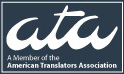 Member of the American Translators Association
